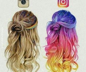 colori, instagram, and hair image