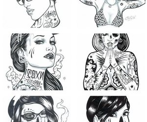 girl, tattoo, and art image
