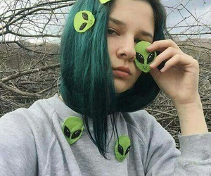alien, girl, and grunge image