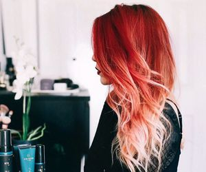 hair, red, and style image