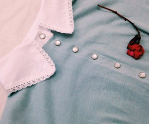 dress, rose, and vintage image