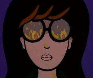 Daria, cartoon, and fire image