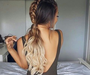 braids, fashion, and fishtail image