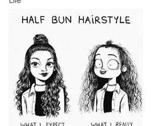 funny, hair, and half bun image