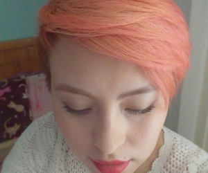 hair, pixie, and salmon image