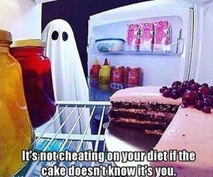 cake, funny, and diet image