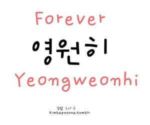 forever, korea, and word image