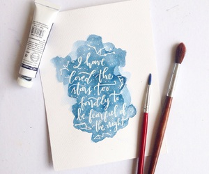 hand lettering, watercolor, and typography image