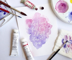 calligraphy and watercolor image