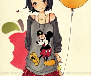 anime, disney, and mickey image