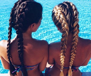 best friends, bffs, and pool image