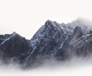 mountains, nature, and white image