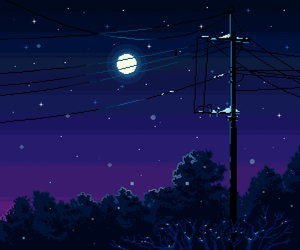 pixel, night, and moon image