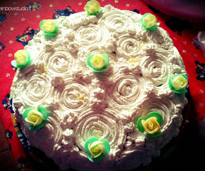 cake, flower, and lime image