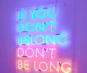 neon, quotes, and light image