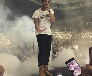 Drake and concert image