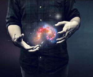 galaxy, magic, and boy image