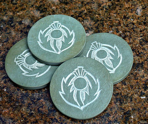 etsy, stone carving, and stone coasters image