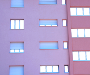 pink, grunge, and building image