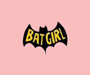 batgirl, pink, and wallpaper image