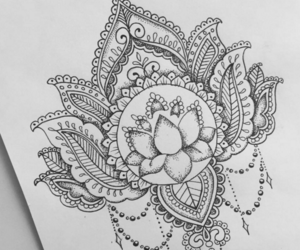 art, tattoo, and mandala image