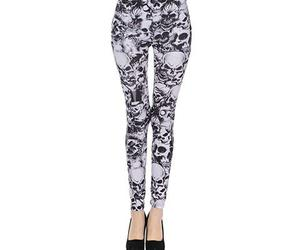 goth, leggings, and skull image