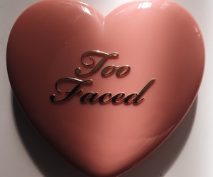 heart, pink, and too faced image
