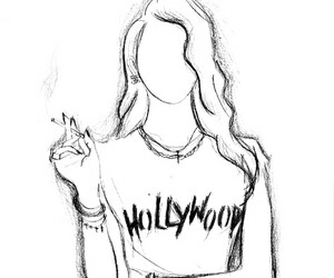 hollywood, drawing, and art image