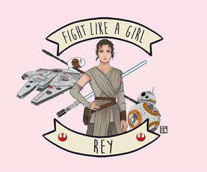 star wars, fight like a girl, and rey image