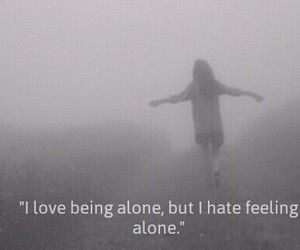 grunge, alone, and quote image