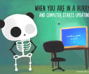 computer, hurry, and boredpanda image