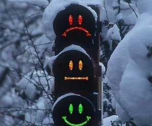 funny, smiles, and traffic lights image