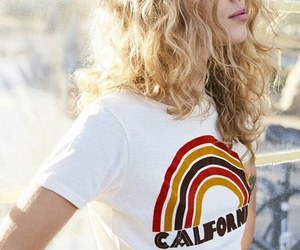 hair, blonde, and california image