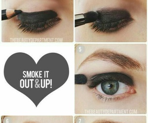 makeup, rock, and eyes image