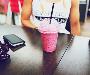 pink, smoothie, and summer image