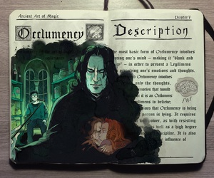 harry potter, snape, and art image