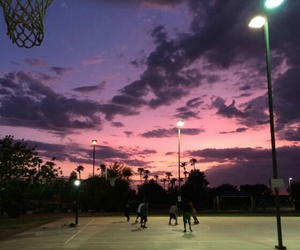 Basketball, evening, and friends image