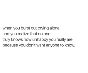 alone, crying, and depression image