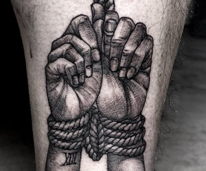 black, bondage, and hands image