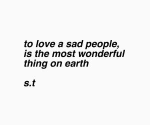 people, sad, and love image