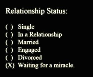 Relationship, miracle, and single image
