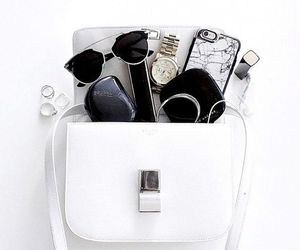 bag, white, and sunglasses image
