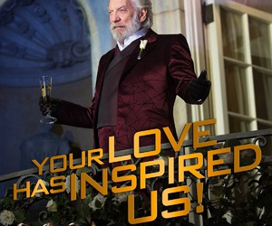 the hunger games, catching fire, and donald sutherland image