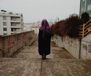 dark, Darkness, and hijab image