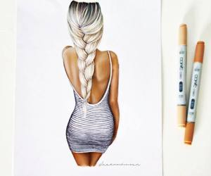 design, designer, and fashion drawing image