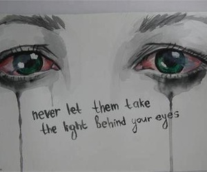 eyes, quotes, and sad image