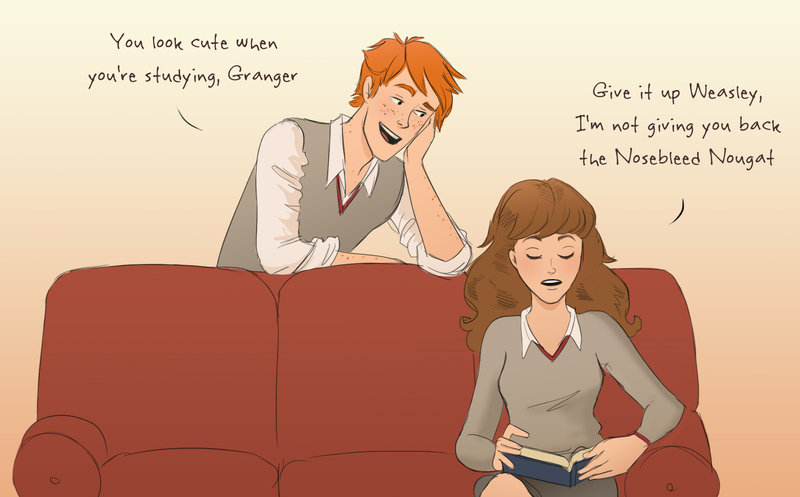 tumblr 2 fred and hermione by julvett on deviantart