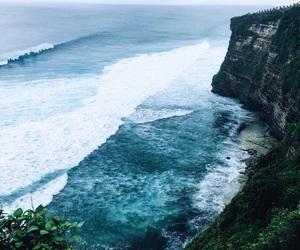 coastline, sea, and surf image
