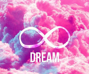 Dream, pink, and infinity image