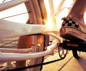 vans, bike, and photography image
